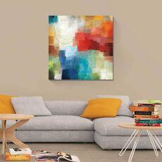 Tablou Canvas - Anotimpuri, Culori, Abstract, Rosu, Albastru, Alb, fig. 1