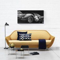 Tablou Canvas - Masina de curse II, Retro, Automobil, Alb negru, fig. 2