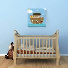 Tablou Canvas - Arca lui Noe II, desen, pentru copii, Barca, Animale, fig. 1