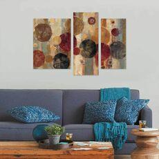 Tablou Multicanvas - Pendul, Abstract, Maro, Rosu, Negru, fig. 2