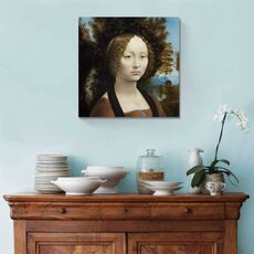 Tablou Canvas - Ginevra de Benci, Leonardo da Vinci, Femeie, Retro, fig. 2