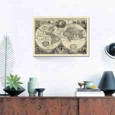 Tablou Canvas - Vintage World Map, fig. 1