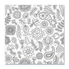 Tablou de colorat - Doodle flowers, fig. 1
