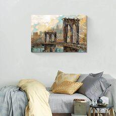 Tablou Canvas - Amintiri din Manhattan, Punte, Pod, Rau, fig. 1