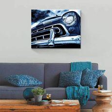 Tablou Canvas - Automobilul albastru, masina, clasic, fig. 2