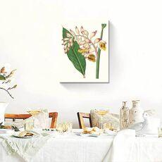 Tablou Canvas - Floare tropicala, Roz, Galben, Verde, Frunza, fig. 1