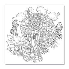 Tablou de colorat - Ciuperca magica, fig. 1