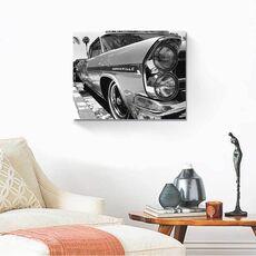 Tablou Canvas - Bonneville, automobil, masina, Alb negru, fig. 2