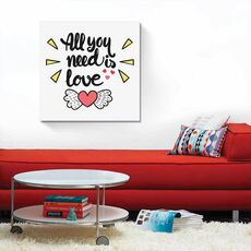Tablou Canvas - All you need is love, Text, Mesaj, fig. 1