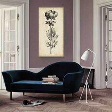 Tablou Canvas - Frumusete unica III, Floare, Alb negru, Retro, Maro, Gri, fig. 1