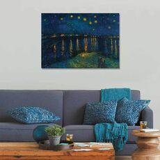Tablou Canvas - Luminile stelelor deasupra Rhonei, Cuplu, Fluviu, Rau, fig. 2