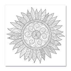 Tablou de colorat - Floral Mandala, fig. 1