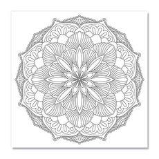 Tablou de colorat - Mandala, fig. 1