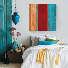 Tablou Canvas - Albastru la mijloc II, abstract, culori, Rosu, Maro, Albastru, fig. 1