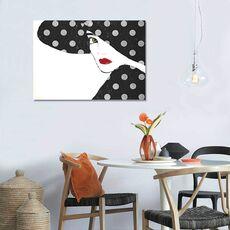 Tablou Canvas - Femeia cu buze rosii, fig. 1