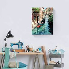 Tablou Canvas - Canal in oras, gondola, Retro, Venetia, Italia, fig. 2