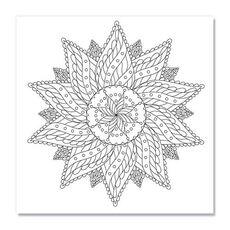 Tablou de colorat - Floral Vintage Mandala, fig. 1