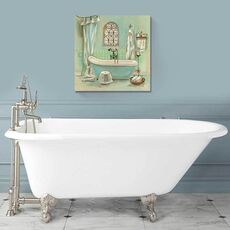 Tablou Canvas - Glass Tile Bath I, fig. 1