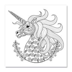 Tablou de colorat - Unicorn, fig. 1