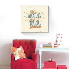 Tablou Canvas - Life is amazing when you are young, Mesaj, Text, Tinerete, fig. 1