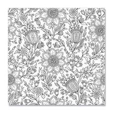 Tablou de colorat - Floral, fig. 1