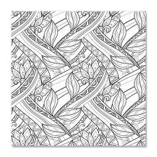 Tablou de colorat - Decorative Flowers, fig. 1