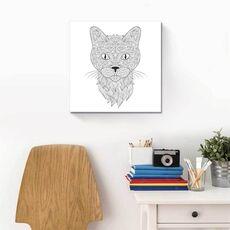 Tablou de colorat - Capul unei pisici, fig. 2