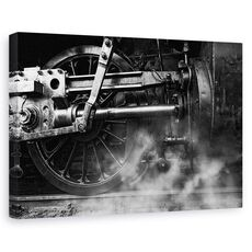 Tablou Canvas - Aburul Locomotivei, fig. 1