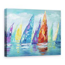 Tablou canvas - Barci Cu Panze, Moderne, Colorate, Pictura, fig. 1