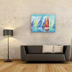 Tablou canvas - Barci Cu Panze, Moderne, Colorate, Pictura, fig. 2