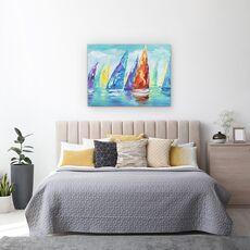 Tablou canvas - Barci Cu Panze, Moderne, Colorate, Pictura, fig. 3