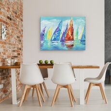 Tablou canvas - Barci Cu Panze, Moderne, Colorate, Pictura, fig. 4