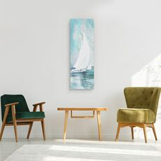 Tablou canvas - Apa, Barca Cu Panze Albe, Pictura, fig. 2
