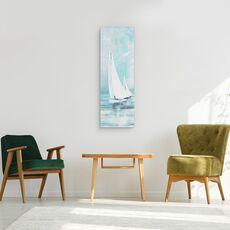 Tablou canvas - Apa, Barca Cu Panze, Alb, Pictura, fig. 2
