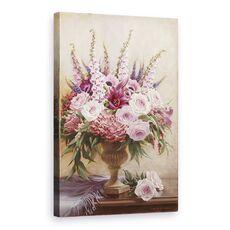 Tablou Canvas - Flori, Natura Vie, Violet, Roz, fig. 1