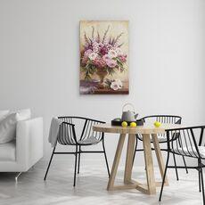 Tablou Canvas - Flori, Natura Vie, Violet, Roz, fig. 4