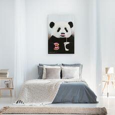 Tablou Canvas - Animale, Ursi Panda, Dulciuri, Bauturi Racoritoare, Pictura, fig. 3