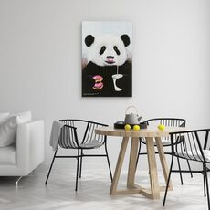 Tablou Canvas - Animale, Ursi Panda, Dulciuri, Bauturi Racoritoare, Pictura, fig. 4