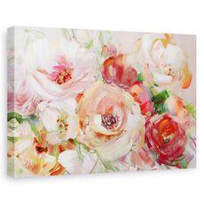 Tablou Canvas - Flori, Vara, Colorate, Pictura, fig. 1