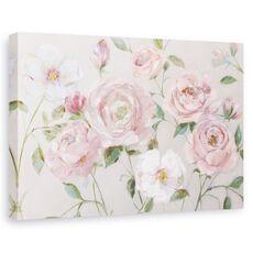Tablou Canvas - Flori, Roz, Trandafiri, Pictura, fig. 1