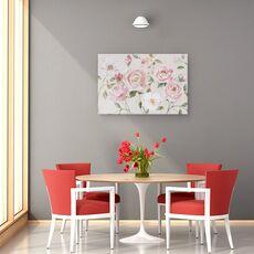 Tablou Canvas - Flori, Roz, Trandafiri, Pictura, fig. 4