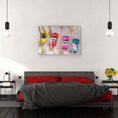 Tablou Canvas - Masini, Colorate, Retro, Copaci, Pictura, fig. 3
