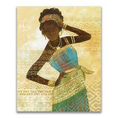 Tablou Canvas - Afro, Figurativ, Modern, Galben, fig. 1