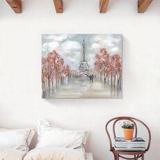 Tablou Canvas - Oras, Paris, Cuplu, Iubire, Toamna, fig. 2