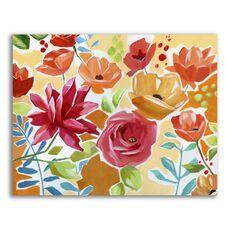 Tablou Canvas - Flori, Floare, Primavara, Rosu, fig. 1