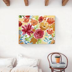Tablou Canvas - Flori, Floare, Primavara, Rosu, fig. 2