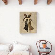 Tablou Canvas - Afro, Figurativ, Modern, Galben, fig. 2