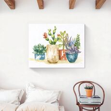 Tablou Canvas - Plante, Cactus, Vaze, Color, fig. 2