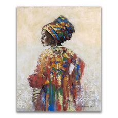 Tablou Canvas - Afro, Figurativ, Modern, Color, fig. 1