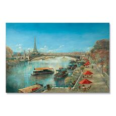 Tablou Canvas -  Paris, Barci pe Sena, Turnul Eiffel, fig. 1